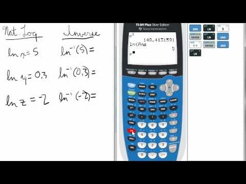 Inverse Natural Logs on Calculator   TI 84 Calculator    Natural Logarithms