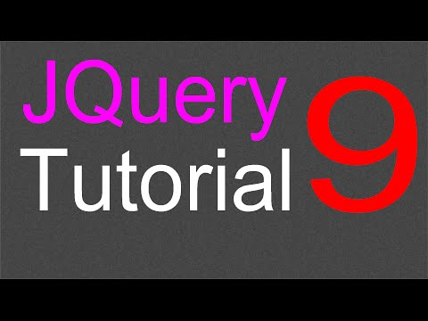 JQuery Tutorial for Beginners - 9 - The HTML and Text method