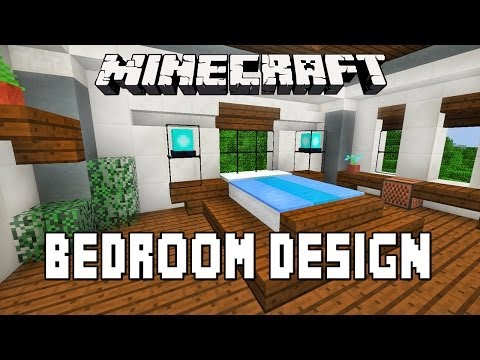Minecraft Tutorial:   How To Make A Modern Bedroom Design  (Modern House Build Ep. 15)