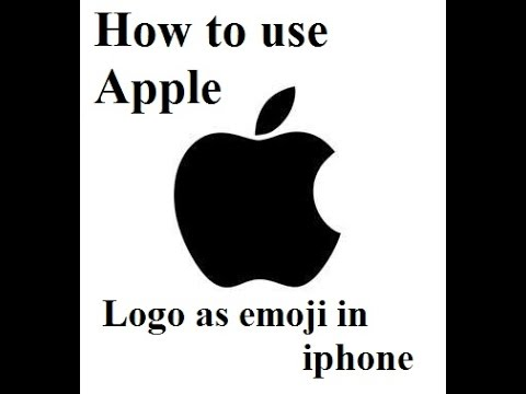 How to use apple logo as emoji in text messages , whatsapp, facebook status in iphone