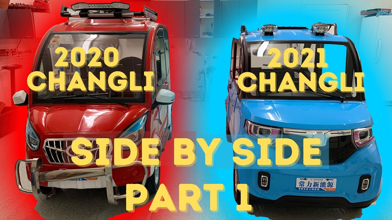 Part 1: Comparing the 2020 Changli side by side with the redesigned 2021 model.