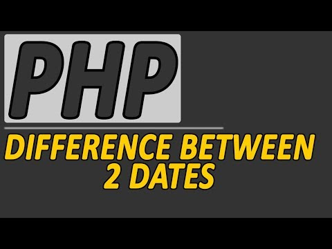 PHP Difference between 2 dates