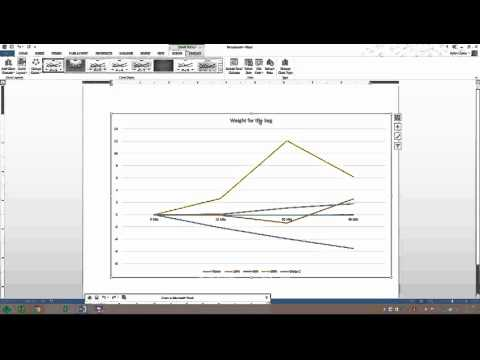 Making a Line Graph in MS Word with Excel