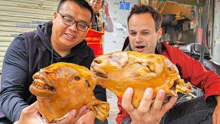 EXTREME Street Food in China - WHOLE Lamb Head (HALAL) + MOST INSANE Chinese Street Food in China!