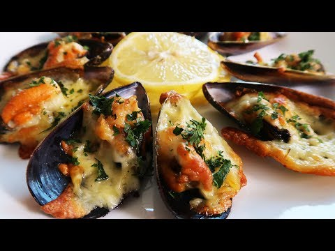 How to Cook Cheesy Baked Mussels Recipe