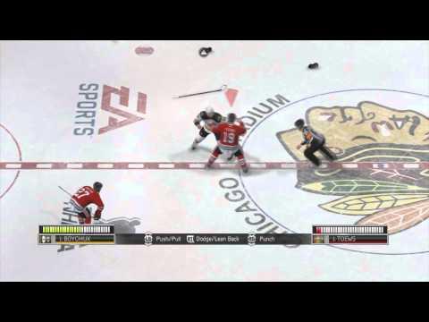 NHL 14: Huge Fight Comeback!