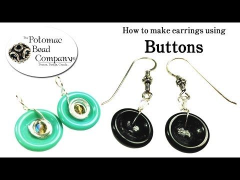 How to Make Earrings with Buttons