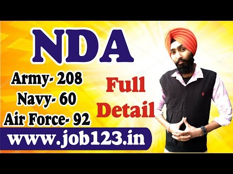 NDA  Apply Online 12th Pass Air Force , Army , Navy NDA Exam 2018 All India Vacancy Full Detail