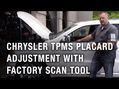 Chrysler TPMS Placard Adjustment With Factory Scan Tool