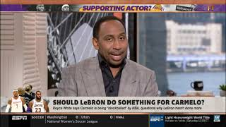 SHOULD LeBron James do something for Carmelo Anthony?   FIRST TAKE 08/22/2019