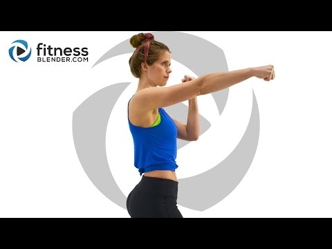No Equipment Upper Body Workout with Cardio Kickboxing Intervals