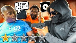 Picked My DAD Up In An UBER UNDER DISGUISE As A ROBBER PRANK!!