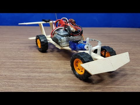 How to make F1 Car from DC motor 180 and Popsicle Sticks simple