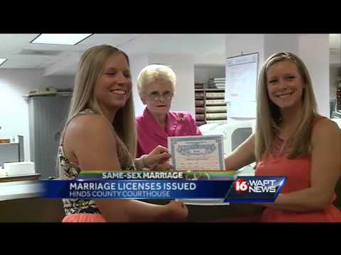 Same-sex couples issued marriage licenses