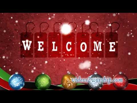 Holidays Welcome Animated Background
