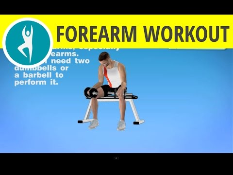 Bodybuilding forearm exercises with dumbbells for men and women at home