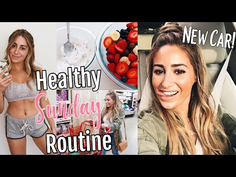 Healthy Sunday Routine// LOW CARB PLANT BASED RECIPES// NEW CAR