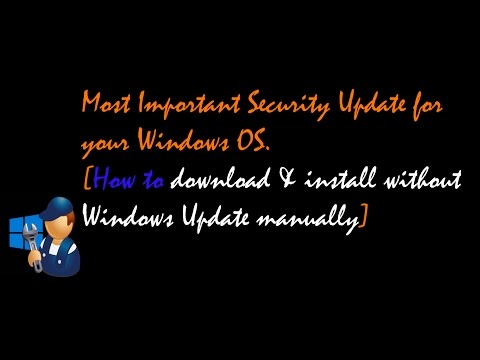 Install this Security Patch Immediately to protect -November 8.2016 Patch for Windows OS