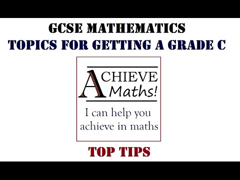 GCSE Maths Topics for getting a Grade C