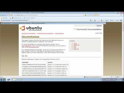 How to Burn Ubuntu ISO (cd image) to a cd