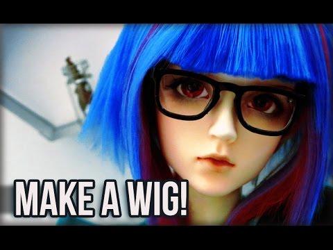 Making a Custom BJD Wig :: Blunt Bangs and Short Hair