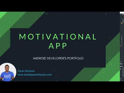Android Developer's Portfolio - Build a Motivational App - Part 1