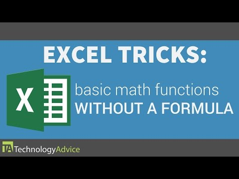 Excel Tricks - Perform Basic Math Functions Without Creating a Formula