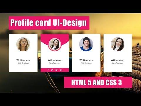 How to create Profile card ui design-Html 5