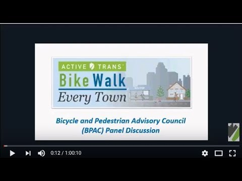 Bike Walk Every Town – Bicycle and Pedestrian Advisory Council (BPAC) Panel Discussion