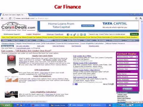 Auto Car Loans | Apply Car Finance | EMI Calculator | Compare Loan  --CarsnDeals.com