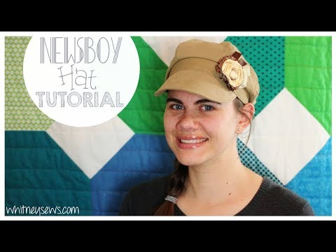 {UPDATED} Newsboy Hat How to | FREE PATTERN | Whitney Sews