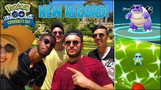 WE BROKE ANOTHER RECORD! (POKÉMON GO COMMUNITY DAY)