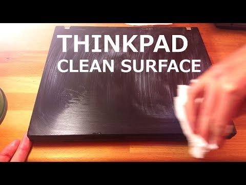 Thinkpad - clean and restore faded surface (actually works)