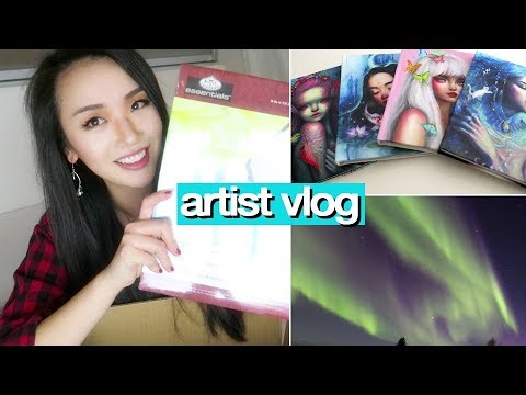 Art supply unboxing + NEW SKETCHBOOKS 💖 ARTIST VLOG 38