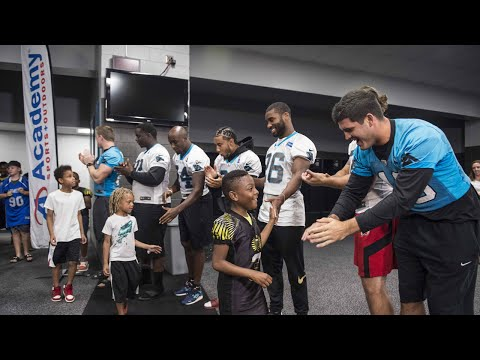 Panthers Rookies Partner With Academy To Surprise Youth Football Teams