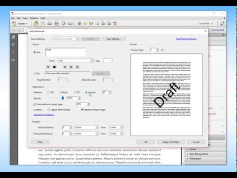 How to Add Watermark to PDFs using Adobe Acrobat Pro