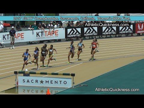 2017 USATF Championships Sacramento, CA. Progressive Womens 800m Final sr
