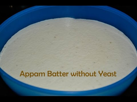 Aappam Batter without yeast / How to prepare appam batter without yeast / Appam batter in Mixie