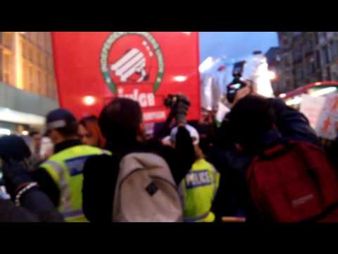 UVW union protest over John Lewis poverty pay