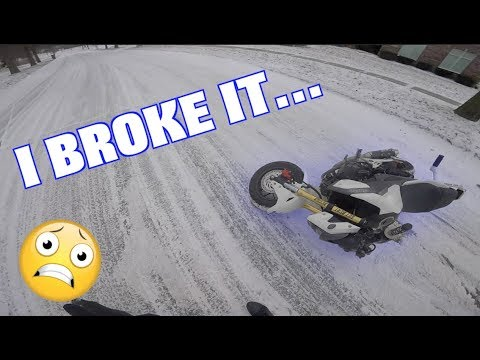 EXACTLY why you should NEVER ride in the snow!