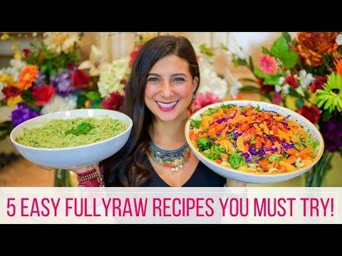 5 Easy FullyRaw Vegan Recipes   Beginner's Guide