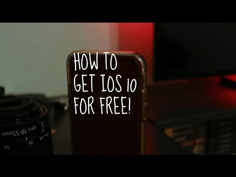 How to get IOS 10 for FREE - No Computer Needed!
