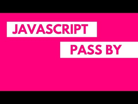 Pass by value pass by reference Javascript