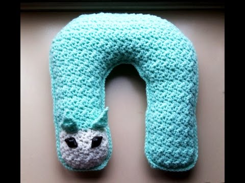 how to crochet neck pillow