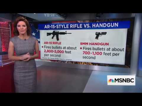 What MSNBC thinks school shooters do when facing a handgun
