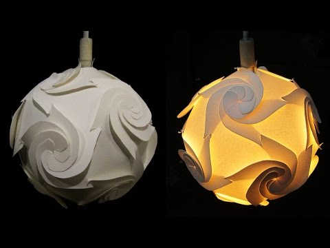 DIY paper lampshade (cyclone)-  home and room decor - EzyCraft