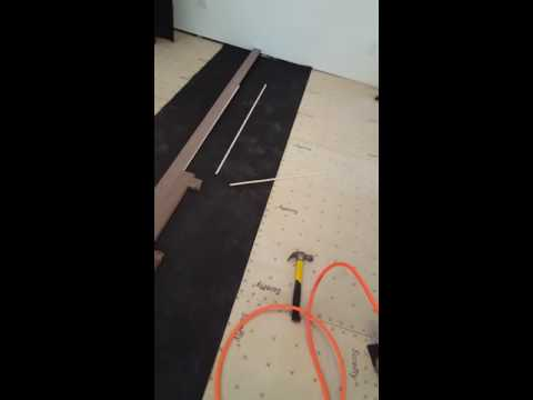 Installing spline in hardwood flooring