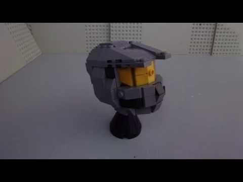 How To Build a Mini Lego Halo Spartan Helmet Display