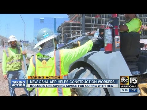 New OSHA app helps construction workers during the heat