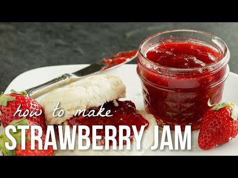 How to Make Strawberry Jam!! Homemade Small Batch Preserves Recipe
